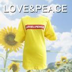 LOVE&PEACE Tシャツ イエロー