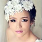 ショッピングウェディング お花とパールでかれんな花嫁 ウェディング ヘッドドレス 和装にも【送料無料】