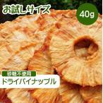 ドライフルーツ パイナップル 40g ポイント消化 ドライパイン 砂糖不使用 無添加 パイナップル 干しパイン 無糖 小分け ギフト チャック付き お試しサイズ カ…