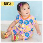 ショッピングビッツ Bit'z(ビッツ)の半袖カバーオール ロンパース「2柄お花ロンパス」出産祝いにもおすすめ (6M 9M 12M 18M 6ヶ月 9ヶ月 12ヶ月 18ヶ月 1歳 1才 2歳 2才 2T 24M