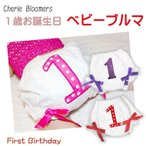 ブルマ ベビー  1歳 赤ちゃん お誕生日 ハッピーバースデー オーバーパンツ50cm 60cm 70cm 80cm 90cm PRWB