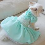 オーダーメイド犬服 セレブな犬服ミントブルードレス
