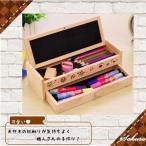 ショッピング筆箱 かわいい 木 ペンケース  筆箱 文具 えんぴつ 動物 ペン 5点 プレゼント セット 小物文房具 収納箱