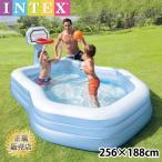 ビニールプール インテックス キッズプール 子供用プール INTEX シューティング すべり台 シャワー ボール付 水あそび レジャープール 家庭用プ