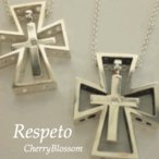 Yahoo!CherryBlossom☆送料無料☆Respeto   ペアクロスネックレス シルバー 自分だけのアクセサリーと始める新生活