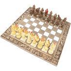 チェスセット セラミック トロイア戦争 31cm 赤