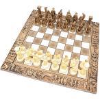 チェスセット セラミック レオニダス 31cm 金