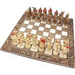 チェスセット セラミック 十字軍 45cm 赤