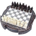 チェスセット ルイス島のチェス駒 ケルト ブラウン