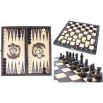 チェスセット/バックギャモン/チェッカー 木製 27cm