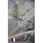 STOF2 フランスリネン生地幅広 ナチュラルホワイトフラワー 10cm単位