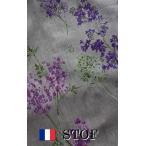 STOF3 フランスリネン生地幅広 ライラック 10cm単位