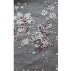 YUWA55 ミュルーズコレクション バロック調の花柄 チャコールグレー リネン生地(10cm単位)