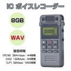 ボイスレコーダー 8GB ICレコーダー コンパクト 固定電話の録音OK WAV デジタル録音機 フラッシュメモリ CHI-SK-999