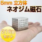 超強力 ネオジム磁石 216個セット 5mm×5mm×5mm 立方体タイプ まとめ売り DIY 工具の固定 工作 MAGNETCUBE