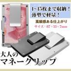 マネークリップ カードケース 現金 ホルダー クレジットカード 財布 メンズ ステンレス製 薄型 大容量 ゆうパケットで送料無料 ◇CHI-BOBO-02