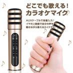 どこでも歌える カラオケマイク 高音質 AUX 音源入力 イヤホン接続 声を聴きながら歌える スマホ 録音対応 ヒトカラ練習 ノイズキャンセリング ◇CHI-BGN-C6