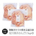 鶏肉 紀州うめどり もも肉 3kg 業務用 国産 【紀の国みかん鶏での代用出荷】