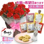 母の日 ギフト 花 プレゼント カーネーション 5号鉢 選べるサプライズセット 送料無料 お届け日指定可