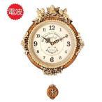 掛け時計 ゴールデンエンジェルラウンドb 壁掛け時計 おしゃれ 電波時計 掛時計 北欧 時計 インテリア 振り子時計