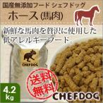 国産無添加ドッグフード シェフドッグ ホース 4.2kg