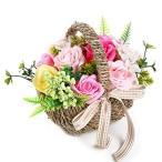 ソープフラワー ローズバスケットギフト カーネーション 造花 母の日のプレゼント 花 女性 友達 彼女 バスフレグランス お花 ギフト 誕生