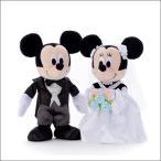 ぬいぐるみ電報 ディズニー ウェルカムドール ミッキー&ミニー ドレス 洋装 ウェディングぬいぐるみ