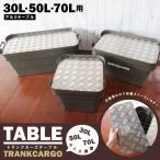 トランクカーゴ 兼用 アルミ 天板 縞板 2枚セット テーブルトップ 30L 50L 70L 用 トラスコ 無印良品 キャンプ アウトドア 収納ケース ボックス 縞模様