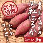 【送料無料】有機栽培 紅はるか Sサイズ1kg 鹿児島県産 宮崎県産【さつまいも べにはるか】お試し価格