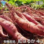 紅はるか 4kg 有機栽培 鹿児島県産 宮崎県産 土付き