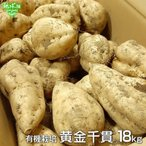 黄金千貫 18kg 有機栽培 鹿児島県産 土付き さつまいも 薩摩芋 サツマイモ からいも こがねせんがん 無農薬 オーガニック 業務用 まとめ買い