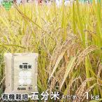 有機五分米 1kg (レターパック発送)ひとり暮らしに 令和2年産 2020年産 鹿児島県 有機栽培 有機JAS認証 化学肥料・農薬不使用 無農薬 お試し おためし 五分 少量