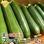ズッキーニ 2kg 有機栽培 鹿児島県産 熊本県産 宮崎県産 JAS認証 大きさおまかせ ずっきーに ラタトゥイユ 無農薬