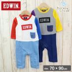 エドウィン EDWIN ベビー 赤ちゃん 子供服 カバーオール 長袖 男の子 総柄 ポケット 全開き ラグラン 18春