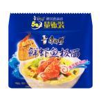 康師傅 鮮蝦魚板面 インスタントラーメン 5食入り袋 ???板面