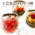 ジャスミン茶 花 咲くお茶 工芸茶 5種 詰め合わせ 自宅用 ブルーミングティー メール便