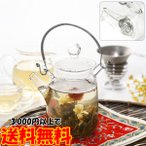 急須 おしゃれ 耐熱ガラス製の急須 茶壷 縦型300ml 中国茶器 ティーポット 大 ガラスポット フィルター 工芸茶