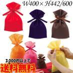 ラッピング 袋 ソフトバッグベーシック 2穴リボン巾着袋 10枚 W400×H442/600 ラッピング用品