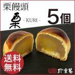 手作りの栗饅頭 5個入 送料無料 ゴロッと大きな栗入り 和菓子 お試し お取り寄せグルメ