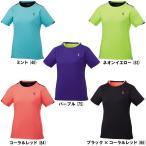 ゴーセン GOSEN  テニス バドミントン レディース ゲームシャツ T1719 BK CR 85  L