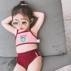 キッズ子供水着ビキニ女の子2点セットセパレート9080110100子供用120cmビキニセットガールズ海uvカット