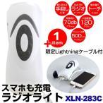 手回し ラジオライト AM FM オートサーチ スマホ 充電 バッテリーパック XLN-283C