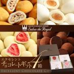 (お中元)ギフトに最適な人気チョコレートの詰め合わせエクセレントチョコ ギフトセット(4箱セット)(ギフト チョコレート スイーツ)