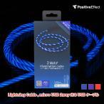 ショッピング2way 2WAY LED 光る イルミネーションケーブル iPod iPhone iPad Android
