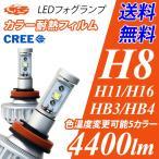LEDフォグランプ H8/H9/H11/H16/HB4/HB3/H10/PSX26W 4400ルーメン イエローフォグ カラー耐熱フィルム 色温度を好みの色に 送料無料