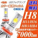 LEDフォグランプ H8/H9/H11/H16/HB4/HB3/H10 7000ルーメン イエローフォグ カラー耐熱フィルム 色温度を好みの色に 送料無料