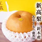 梨 新高梨 針木産 まるはり にいたかなし 約4キロ 超大玉約1kg×4玉入 高知産 はりぎ マルハリ ご贈答用高級品 超大玉限定 産 甘い 高糖度 梨 ナシ プレゼント