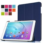 Huawei MediaPad T2 10.0 Pro/Qua tab 02 au/キュア タブ ゼロニ 10.1インチ タブレット用上質 レザーケース手帳型/保護カバー/横開き/スタンドケース 軽量薄型