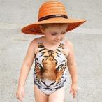 ベビー水着タイガー女の子80cm90cm100cm110cmフルーツワンピース水着女の子ベビースイミングフランスtiger 子供水着ジュニアビーチ用品