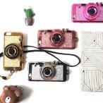2017NEWデザイン!カメラ型 iphone7用TPUケース/キラキラ/ストラップ 付き/スマホケース/スマホカバー/かわいい/ソフトケース/スタンド機能付き